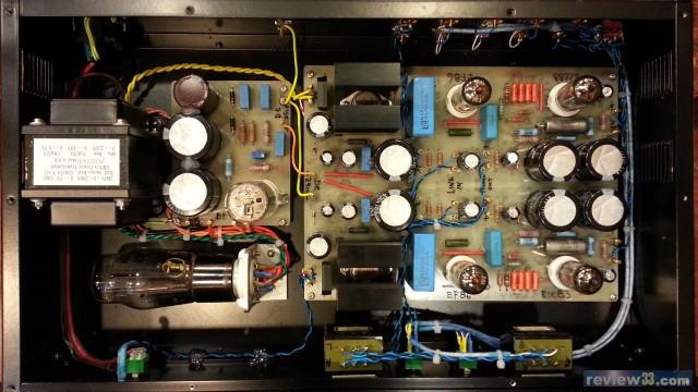 电源部分采用5y3整流,6em7作稳压.