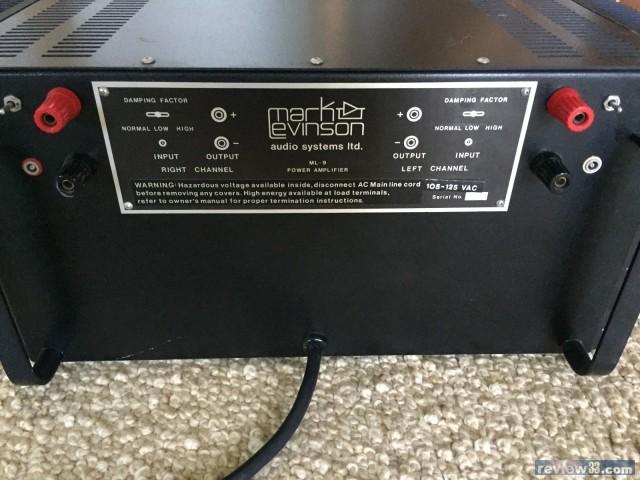 review33 - 二手市場: 出售: Mark Levinson ML-9 Power Amplifier
