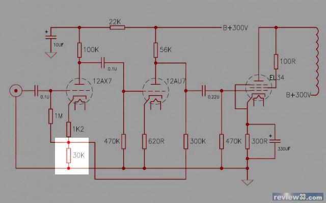 6sl7推el34单端电路图