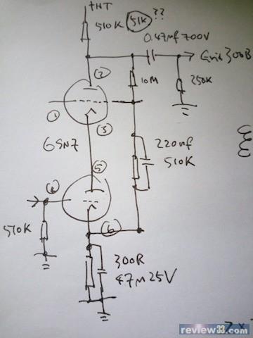 6v6牛推300b电路图