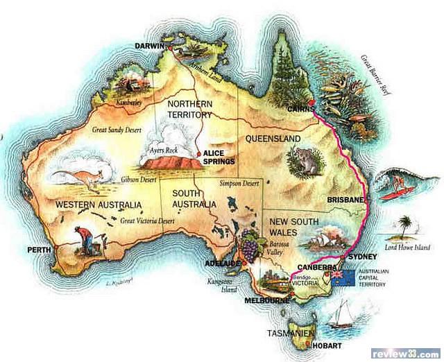 悉尼在澳洲地图